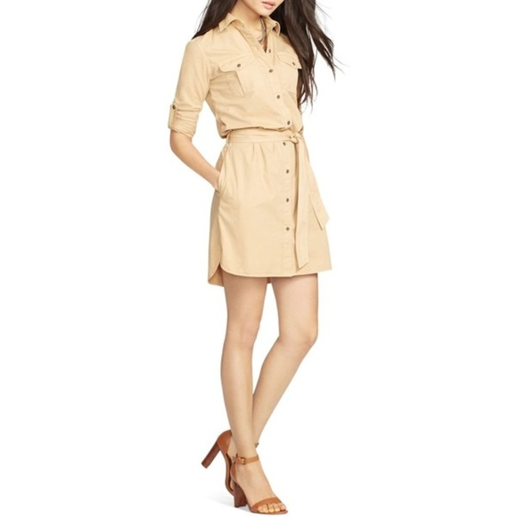 c1e81295b6a Lauren Ralph Lauren Twill Shirt Dress
